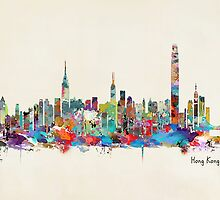 Hong Kong skyline by bri-b