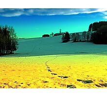 Winter wonderland in twilight colors | landscape photography Photographic Print