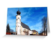The village church of Sankt Veit / Mkr II | architectural photography Greeting Card