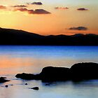 Arran sunset 2 from Portencross by David Hutcheson