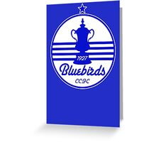 Bluebirds 1927 Greeting Card