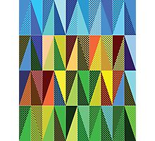 Abstract triangles Photographic Print