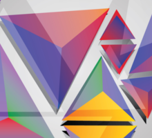 Abstract triangles 3 Sticker