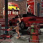 Get Busy Garage Pinup by DYoungDigital