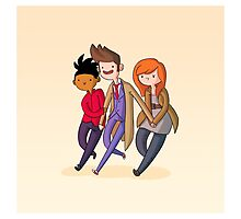 Adventure Time and Space! 10th Doctor Photographic Print