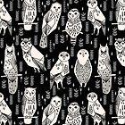 Parliament of Owls - Black & White by Andrea Lauren by Andrea Lauren
