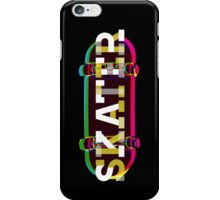 Colorful Skater Typo iPhone Case/Skin