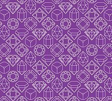 Diamond Gem Shape Outline PURPLE by ISLWMP