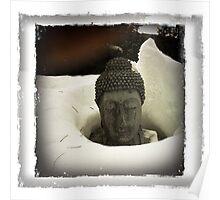 Winter Calm - Buddha in Snow  Poster