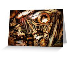 Harley Davidson Engine Greeting Card