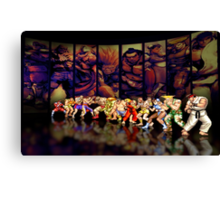 Street Fighter II pixel art Canvas Print