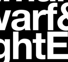Sticker! Vanilla Races : Alliance (Classic) - WoW goes Helvetica Sticker