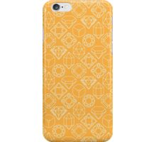 Diamond Gem Shape Outline YELLOW iPhone Case/Skin