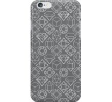Diamond Gem Shape Outline GREY iPhone Case/Skin