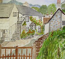Watercolour . Hawkshead . by Irene  Burdell