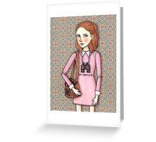 Suzy from Moonrise Kingdom Greeting Card