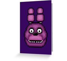Five Nights at Freddy's 1 - Pixel art - Bonnie Greeting Card