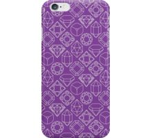 Diamond Gem Shape Outline PURPLE iPhone Case/Skin
