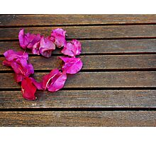 Heart from petals with the space Photographic Print