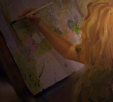 Painting a Painter by Sandra Guzman