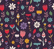Colorful Abstract Floral Pattern by sale