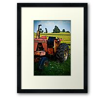 Old Allis-Chalmers Tractor Framed Print