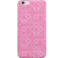 Diamond Gem Shape Outline LIGHT PINK iPhone Case/Skin