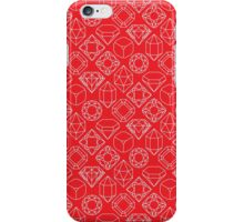 Diamond Gem Shape Outline RED iPhone Case/Skin