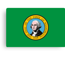 Washington Flag Canvas Print