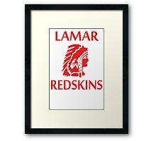 Lamar Redskins Framed Print