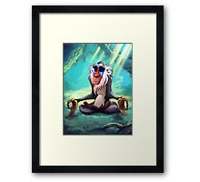 Rafiki Meditating Framed Print