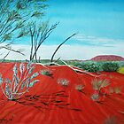 From a Distance, Uluru, Australia by  Linda Callaghan