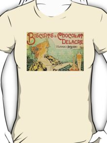 'Biscuits and Chocolat Delacre' by Privat Livemont (Reproduction) T-Shirt
