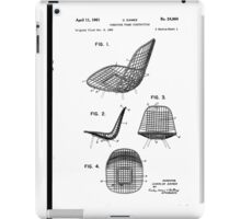 Eames - Wire Chair - Patent Artwork iPad Case/Skin