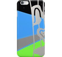 SPRING BLUE, abstract design, DUVETS, PILLOWS, GIFTS iPhone Case/Skin