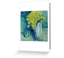 Still life with green Apple Greeting Card