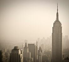 Empire State Building and Manhattan Skyline by Alan Copson