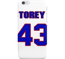 National baseball player Torey Lovullo jersey 43 iPhone Case/Skin