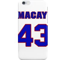 National baseball player Macay McBride jersey 43 iPhone Case/Skin