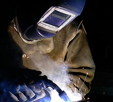 Welder at Work by bluemtnblues