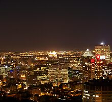 Montreal at Night II by tsafnaes