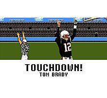 Tecmo Bowl Touchdown Tom Brady Photographic Print