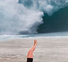Gymnast at Pipeline. by Alex Preiss