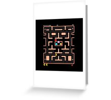 Original Ms. PacMan - Video Game Gamer Vintage Retro Black Arcade Greeting Card