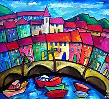 MENTON  COTE  D'AZUR - FRANCE by ART PRINTS ONLINE         by artist SARA  CATENA