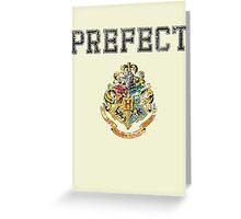 Wizard Hall Monitor (black) Greeting Card
