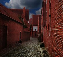 The Old street of Leuven (Belgium) 2a by Antanas