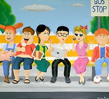 Kids at the Bus Stop by Wintoons