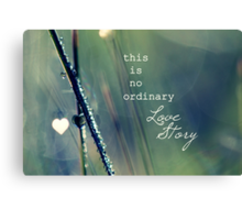 No Ordinary Love Story Canvas Print