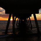 Glenelg Jetty At Sunset by AngieBel